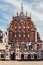 Latvia, Riga, House of the Blackheads at town hall square - CSTF01319