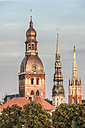 Latvia, Riga, church towers - CSTF01325