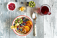 Superfood breakfast with porridge, amaranth, various fruits and pistachios - SARF03232