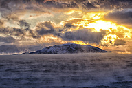 Arctic Ocean, clouds above the Barents Sea at twilight - DSGF01552