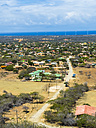 Caribbean, Bonaire, Kralendijk, view at the coast and the town of Rincon - AMF05324