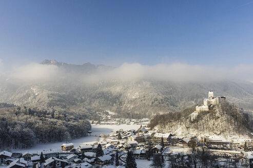 Germany, Bavaria, Aschau, Hohenaschau Castle in winter - THAF01910