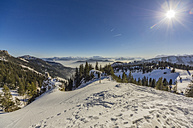 Germany, Bavaria, Aschau, winter landscape as seen from Kampenwand - THAF01913