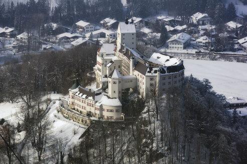 Germany, Bavaria, Aschau, Hohenaschau Castle in winter - THA01916