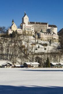 Germany, Bavaria, Aschau, Hohenaschau Castle in winter - THA01922