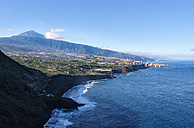 Spain, Canary Islands, Tenerife, Puerto de la Cruz, Playa El Ancon, Orotava Valley and Pico del Teide - SIEF07340