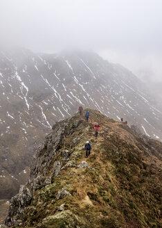 UK, Scotland, Glencoe, trekking at Sron na Lairig - ALRF00858