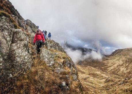 UK, Scotland, Glencoe, trekking at Sron na Lairig - ALRF00864