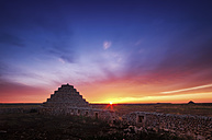 Spain, Menorca, stepped pyramids at sunset - SMA00698