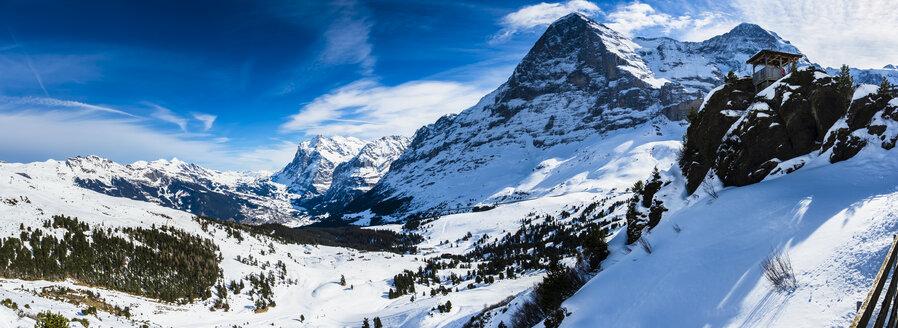 Switzerland, Canton of Bern, Grindelwald, Kleine Scheidegg, Eiger and Eiger North Face - AMF05359