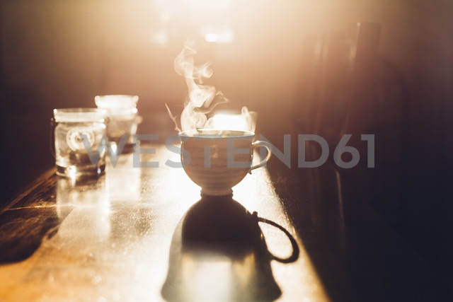 Hot cup of tea in the morning light - NMSF00018