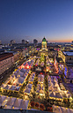 Germany, Berlin, Christmas market at Gendarmenmarkt in the evening - PVCF01044