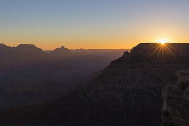 USA, Arizona, South Rim, Colorado River, Grand Canyon National Park, view from Mather Viewpoint - FOF09129