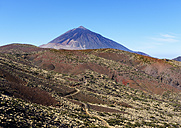 Spain, Tenerife, Teide National Park, Pico del Teide as seen from the east - SIEF07360