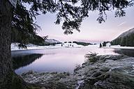 Austria, Sankt Koloman, Seewaldsee in winter - STCF00291