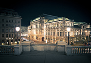 Austria, Vienna, State Opera at night - STCF00300