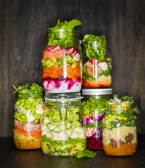 Preserving jars of various salads - KSWF01801