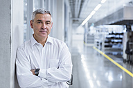 Portrait of a manager on shop floor of a factory - DIGF01713