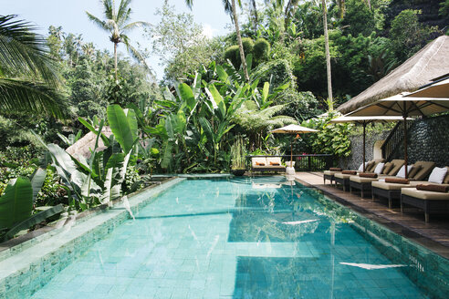 Indonesia, Bali, tropical swimming pool - JUBF00217
