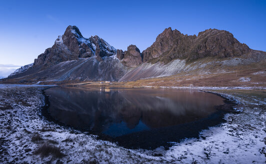 Iceland, landscape with mountain and lake - EPF00422