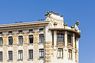 Austria, Vienna, detail of Wienzeilen houses - WD03982