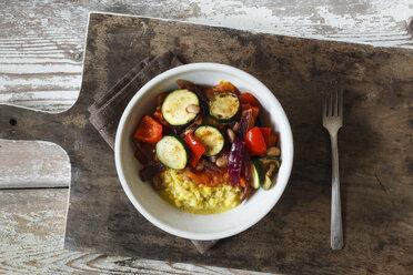 Grilled vegetables on polenta - EVGF03189