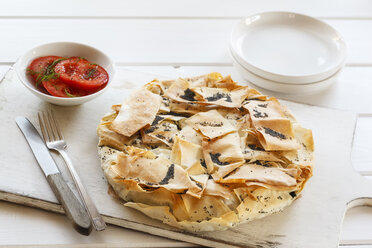 Vegetable pie made of filo dough with kale, chard and poppy seed - EVGF03195