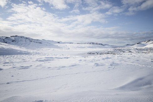 Iceland, snow-covered landscape - EPF00426