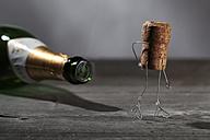 Champagne cork manikin - NIF00079
