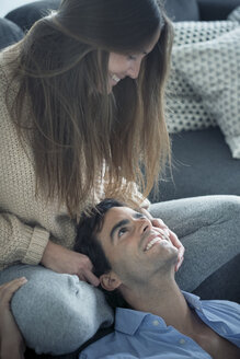 Smiling young couple in love at home - SIPF01566