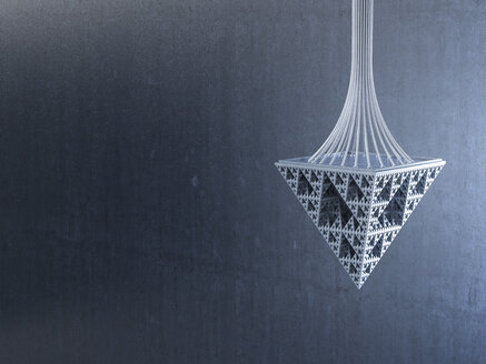 Pendulum made of triangles, 3d rendering - AHUF00314