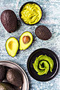 Bowl of guacamole and avocado - SARF03283
