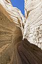 USA, New Mexico, Pajarito Plateau, Sandoval County, Kasha-Katuwe Tent Rocks National Monument, slot canyon - FOF09191