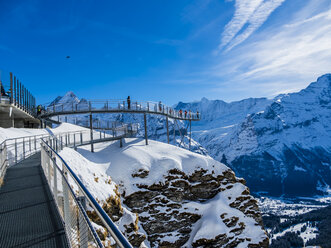 Switzerland, Canton of Bern, Grindelwald, view from First Cliff Walk on Eiger - AMF05365