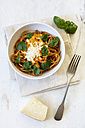 Spelt whole grain spaghetti, tomato sauce, parmesan and basil - EVGF03203