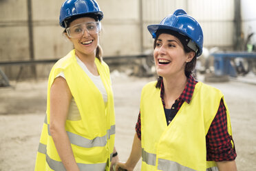 Female skilled workers in concrete factory - JASF01649