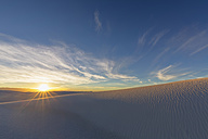USA, New Mexico, Chihuahua Desert, White Sands National Monument, landscape at sunrise - FOF09198