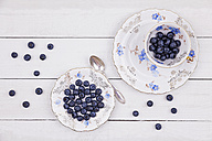 Collectors cupand plate  of blueberries - GWF05185