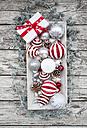 Christmas decoration and Christmas present on wood bowl - LVF06033