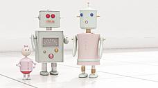 Robot family, 3d rendering - UWF01150