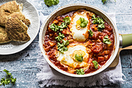 Bell pepper Shakshouka with naan - SARF03295