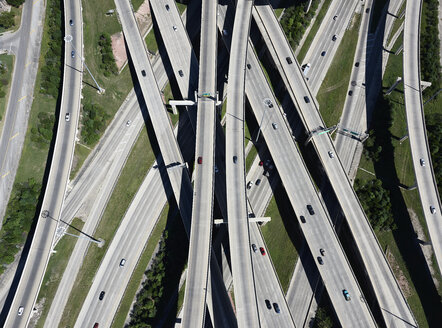 USA, Texas, San Antonio, aerial view of highway interchange - BCDF00272