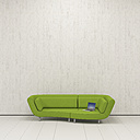 Lounger with laptop, 3D Rendering - UWF01168