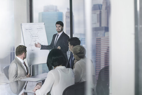 Businessman leading a presentation in city office - ZEF13621