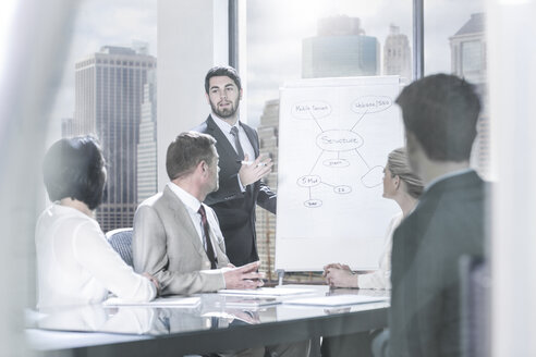 Businessman leading a presentation in city office - ZEF13630
