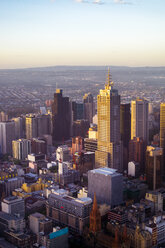 Australia, Melbourne view to financial district from above - PUF00645