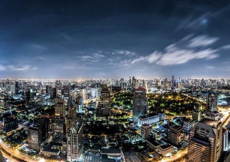Thailand, Bangkok, skyline at night - DAWF00524