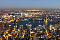 USA, New York City, cityscape at dusk - DAWF00544