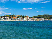 Croatia, Rogoznica, view to city from the sea - AMF05390