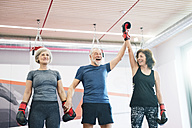 Group of happy seniors working out in gym, boxing - HAPF01684